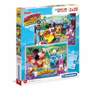 Puzzle Mickey and the Roadster Racers 2x20 piezas - Clementoni