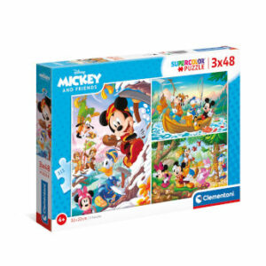Puzzle Mickey Mouse and Friends 3x48 piezas - Clementoni
